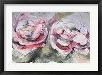 Framed Pair of Pink Roses Landscape