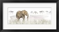 Framed Serengeti Elephant horizontal panel