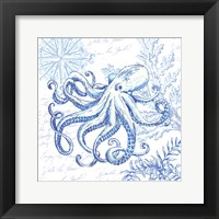Framed Coastal Sketchbook Octopus