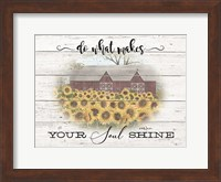 Framed Do What Makes your Soul Shine