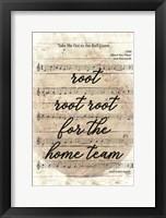 Framed Vintage Baseball Sheet Music