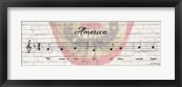 Framed America Sheet Music
