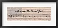 Framed America the Beautiful Sheet Music