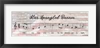 Framed Star Spangled Banner Sheet Music