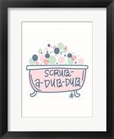 Framed Scrub-a-Dub-Dub