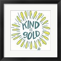 Framed Sunshine Kind is Gold