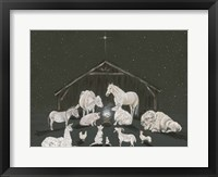 Framed Animal Nativity Scene
