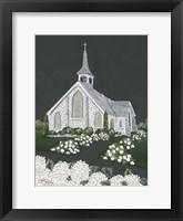 Framed White Church