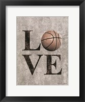 LOVE Basketball Framed Print