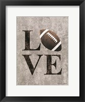 LOVE Football Framed Print