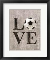 LOVE Soccer Framed Print
