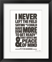 Framed Peyton Manning Quote
