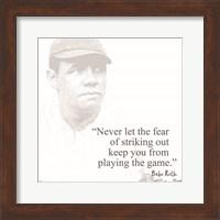 Framed Baseball Greats - Babe Ruth