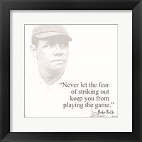 Framed Baseball Greats - Babe Ruth