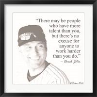 Framed Baseball Greats - Derek Jeter
