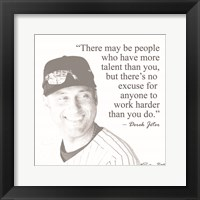 Framed Baseball Greats - Derek Jeter