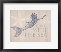 Framed Mermaid At One with the Sea