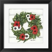 Framed Magnolia Winter Wreath