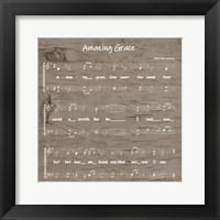 Framed Amazing Grace Sheet Music
