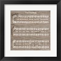 Framed Doxology Sheet Music