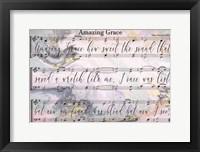 Framed Amazing Grace Lyrics