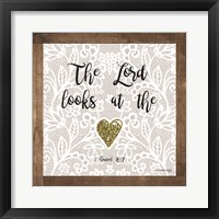 Framed Lord Looks at the Heart
