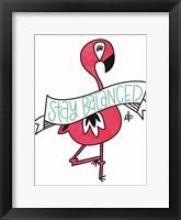 Framed Flamingo Stay Balanced