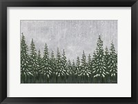 Framed Snowy Forest