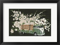 Framed VW Bus Black