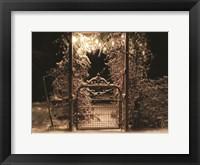 Framed Snowy Garden Gate