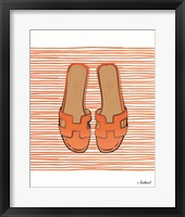 Framed Orange Hermes Flats