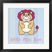 Framed Li'll Lion