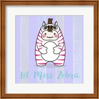 Framed Li'l Zebra