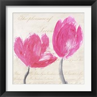 Framed Classic Tulips I