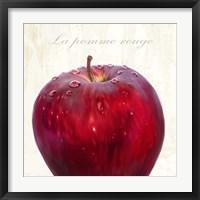 Framed La Pomme Rouge