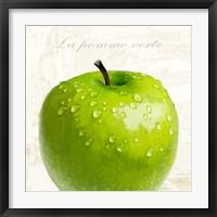 Framed La Pomme Vert