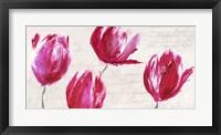 Framed Crimson Tulips