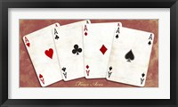 Framed Four Aces (Red)