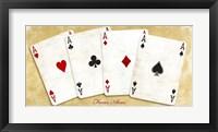 Framed Four Aces (Gold)
