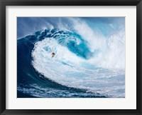 Framed Surfing the Big Wave, Tasmania