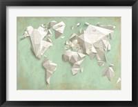 Framed Different World (Mint & Gold)