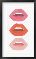 Framed Red Lips I