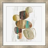 Framed Glided Stones II