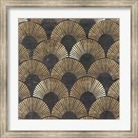 Framed Golden Art Deco II