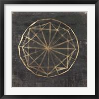 Framed Golden Wheel I
