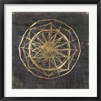 Framed Golden Wheel II