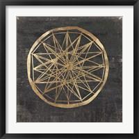 Framed Golden Wheel III