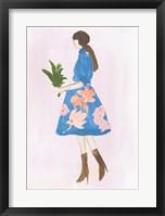 Framed Girl with Plant