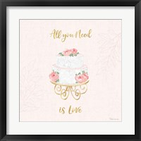 Framed All You Need is Love IX Pink