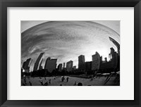 Framed Bean Chicago BW